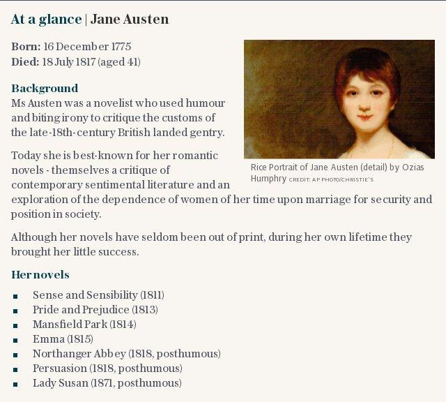 At a glance | Jane Austen