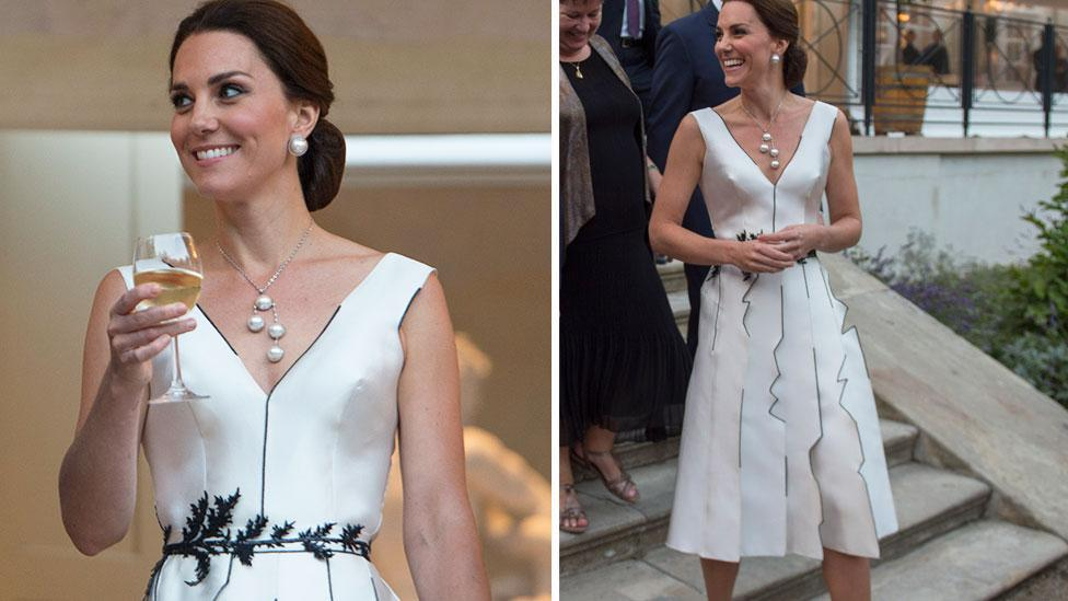 Kate goes glam for garden party