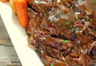 """<p>Do you have a busy day ahead with guests arriving for dinner? Trick them into thinking you spent all day cooking up a pot roast with this recipe. The melt-in-your-mouth, deceivingly delicious meal is great for weekends, week days and any time of year, really. <i> (Photo/recipe via <a href=""""http://www.joyouslydomestic.com/2014/01/slow-cooker-melt-in-your-mouth-pot-roast.html"""" rel=""""nofollow noopener"""" target=""""_blank"""" data-ylk=""""slk:Joyously Domestic"""" class=""""link rapid-noclick-resp"""">Joyously Domestic</a>)</i></p>"""