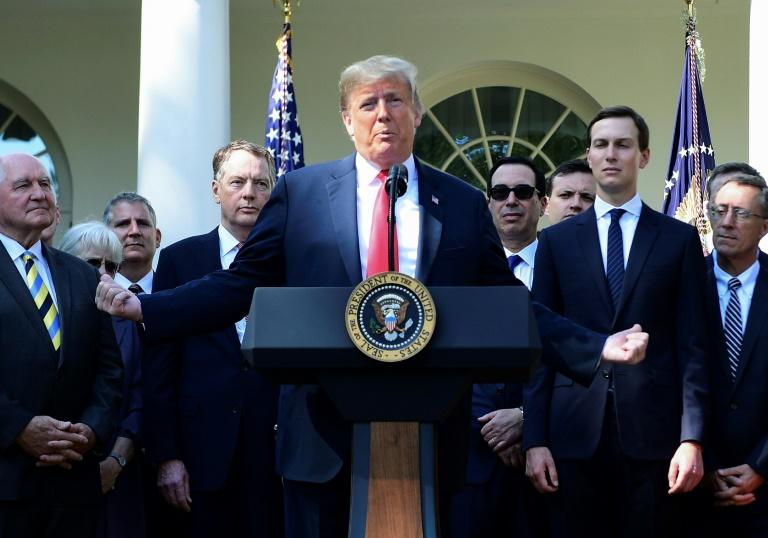 US President Donald Trump, pictured at the White House on October 1, 2018, has made cracking down on illegal immigration a keystone of his presidency