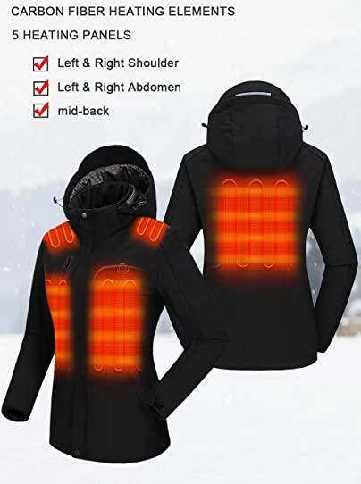 Carbon fiber heating helps keep you warm when the temperature drops. Image via Amazon.