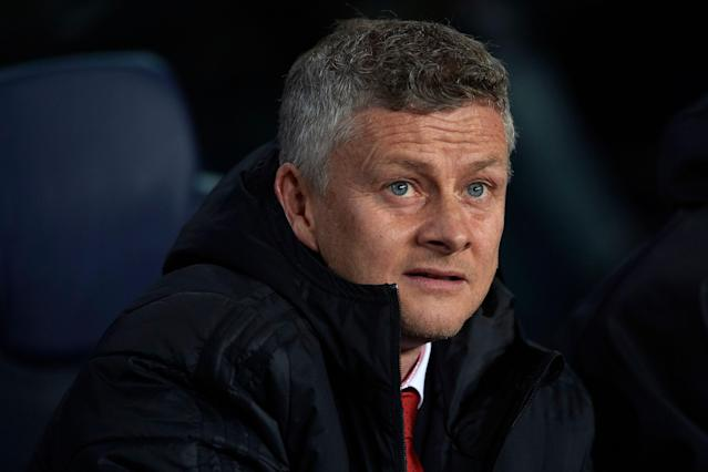 Ole Gunnar Solskjer during the UEFA Champions League Quarter Final second leg between Barcelona and Manchester United at Camp Nou on April 16, 2019 in Barcelona, Spain (Photo by Jose Breton/NurPhoto via Getty Images)
