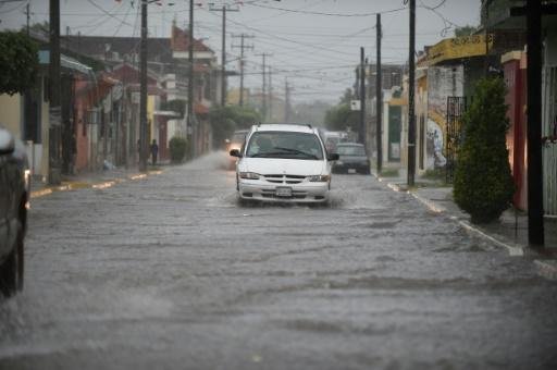 Streets were flooded in Escuinapa in Mexico's Sinaloa state as Hurricane Willa made landfall on October 23, 2018