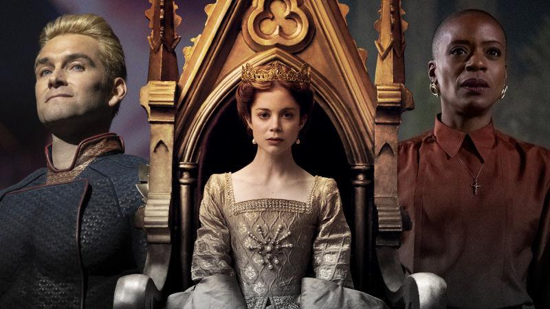 Antony Starr in The Boys (Photo: Amazon Studios); Charlotte Hope in The Spanish Princess (Photo: Starz); T'Nia Miller in The Haunting Of Bly Manor (Photo: Eike Schroter)