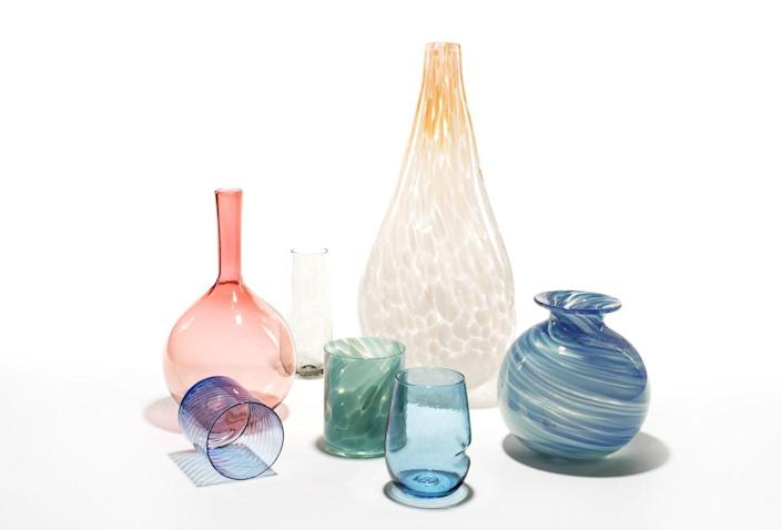 "<p>Colored glassware is equally great for dinner parties and for adding pops of vibrant elegance to bookshelves. ""Colorful glassware can can also add an unexpected source of delight to your shelves,"" glassblower Cheryl Saban, founder of <a href=""https://sabanglassware.com/"" rel=""nofollow noopener"" target=""_blank"" data-ylk=""slk:Saban Glass"" class=""link rapid-noclick-resp"">Saban Glass</a>, says.</p><p><a class=""link rapid-noclick-resp"" href=""https://sabanglassware.com/"" rel=""nofollow noopener"" target=""_blank"" data-ylk=""slk:Shop Colored Glass"">Shop Colored Glass</a></p>"