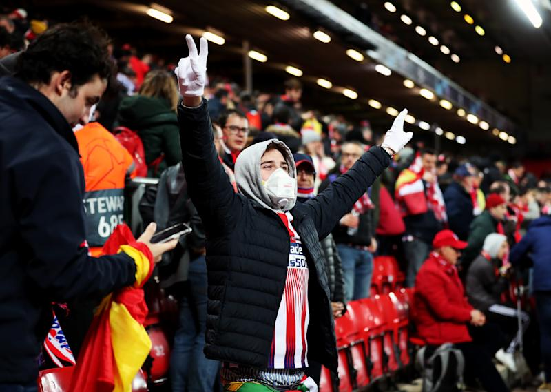 Prof Ashton said a proportion of fans who travelled to watch Atletico Madrid take on Liverpool in the UEFA Champions League would have been coronavirus positive. (Picture: PA)