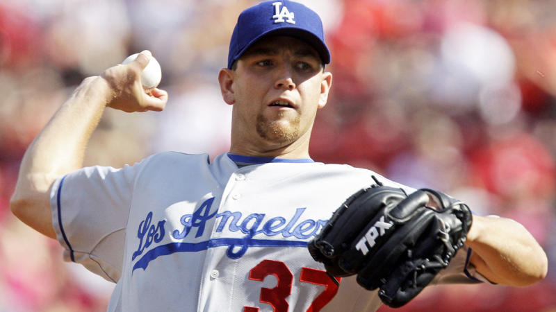 Charlie Haeger, pictured here in action for the Los Angeles Dodgers in 2010.