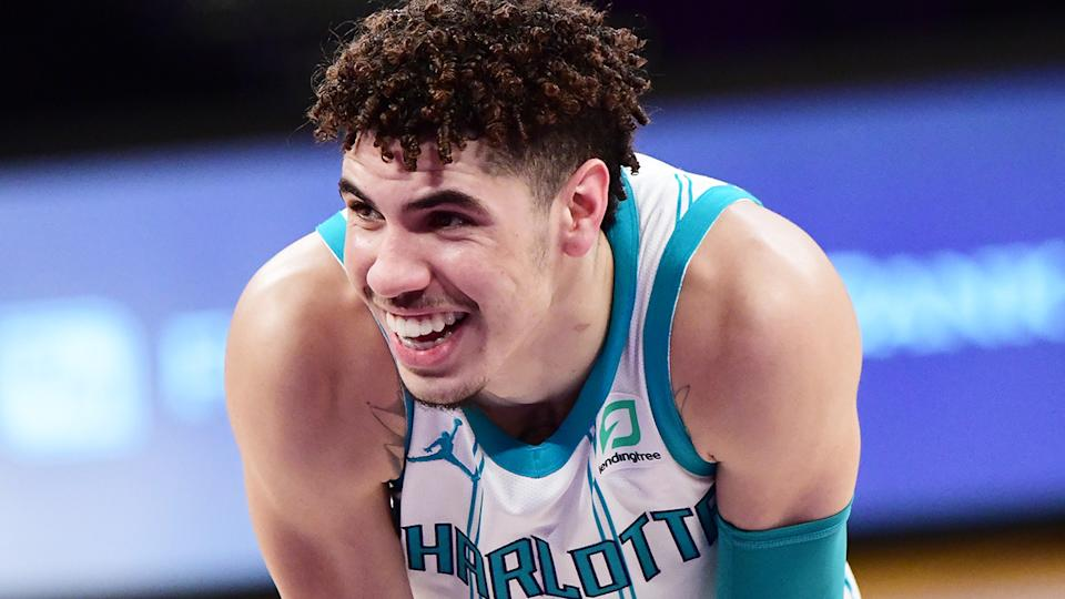 Charlotte Hornets rookie LaMelo Ball is set to miss the rest of the NBA season after breaking his wrist. (Photo by Adam Pantozzi/NBAE via Getty Images)