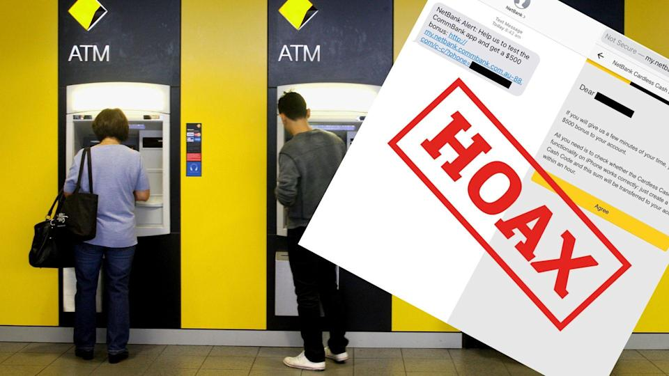 Commonwealth Bank of Australia customers have been targeted by a scam. Images: AAP, CommBank