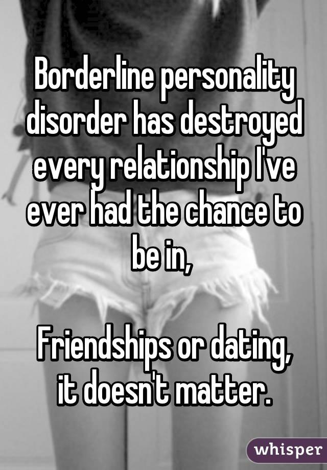 Online dating borderline personality disorder