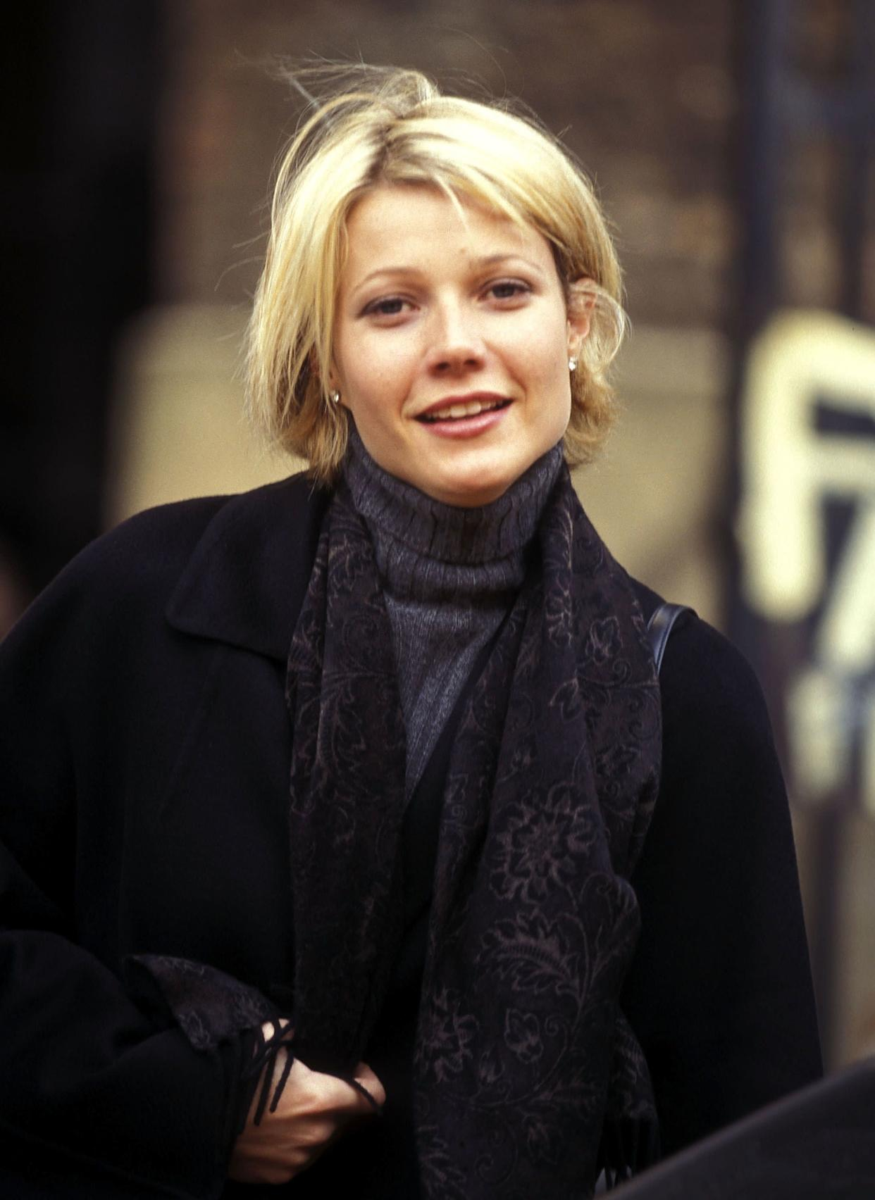 """The actress on location for the film """"A Perfect Murder"""" in 1997."""
