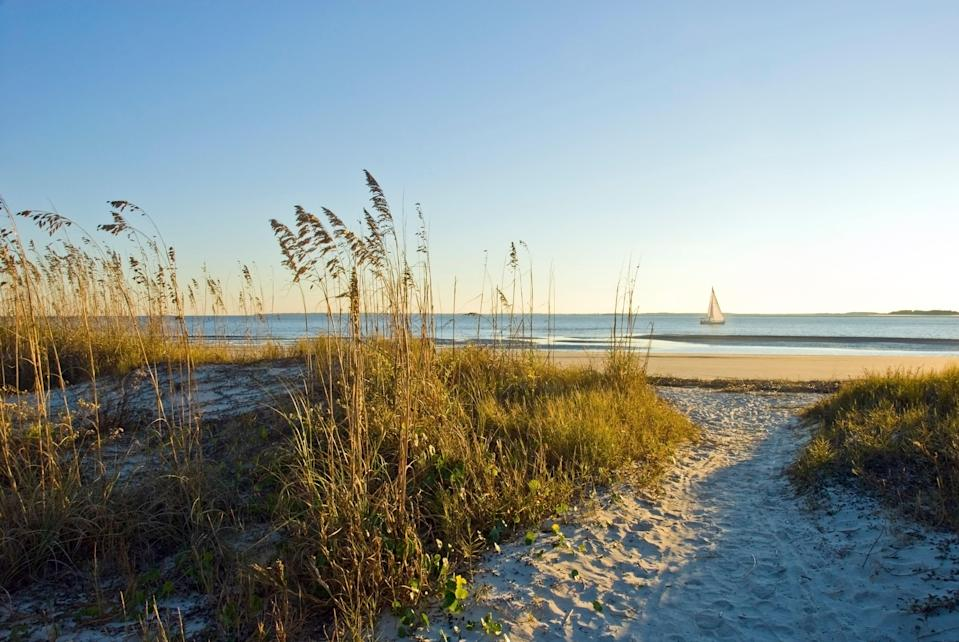 """With miles and miles of white sandy beaches, biking trails, family-friendly resorts like the <a href=""""https://www.cntraveler.com/hotels/united-states/hilton-head-island/omni-hilton-head-oceanfront-resort?mbid=synd_yahoo_rss"""" rel=""""nofollow noopener"""" target=""""_blank"""" data-ylk=""""slk:Omni Hilton Head"""" class=""""link rapid-noclick-resp"""">Omni Hilton Head</a>, golf courses, and delicious <a href=""""https://www.cntraveler.com/story/low-country-road-trip?mbid=synd_yahoo_rss"""" rel=""""nofollow noopener"""" target=""""_blank"""" data-ylk=""""slk:Low Country"""" class=""""link rapid-noclick-resp"""">Low Country</a> cuisine (try the stuffed shrimp or fried oysters at <a href=""""https://www.hudsonsonthedocks.com/"""" rel=""""nofollow noopener"""" target=""""_blank"""" data-ylk=""""slk:Hudson's Seafood House on the Docks"""" class=""""link rapid-noclick-resp"""">Hudson's Seafood House on the Docks</a>), it's no surprise our readers voted this southeastern getaway the <a href=""""https://www.cntraveler.com/galleries/2013-10-15/best-islands-america?mbid=synd_yahoo_rss"""" rel=""""nofollow noopener"""" target=""""_blank"""" data-ylk=""""slk:number one U.S. island"""" class=""""link rapid-noclick-resp"""">number one U.S. island</a>. But more than that, Hilton Head's unique cultural history makes it an important educational destination, too. Learn about the country's first self-governed town of formerly enslaved people at <a href=""""https://exploremitchelville.org/"""" rel=""""nofollow noopener"""" target=""""_blank"""" data-ylk=""""slk:Mitchelville Freedom Park"""" class=""""link rapid-noclick-resp"""">Mitchelville Freedom Park</a>, or spend the day with <a href=""""https://daufuskieislandgullahheritagesociety.org/"""" rel=""""nofollow noopener"""" target=""""_blank"""" data-ylk=""""slk:local guide"""" class=""""link rapid-noclick-resp"""">local guide</a> Sallie Ann Robinson, a sixth-generation Gullah native, on nearby <a href=""""https://www.cntraveler.com/story/daufuskie-is-a-laid-back-island-with-no-stoplights?mbid=synd_yahoo_rss"""" rel=""""nofollow noopener"""" target=""""_blank"""" data-ylk=""""slk:Daufuskie Island"""" class=""""link rapid-noclick-resp"""