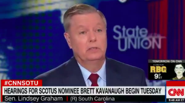 Lindsey Graham Doesn't Deny Brett Kavanaugh Could Spur Roe V. Wade Reversal