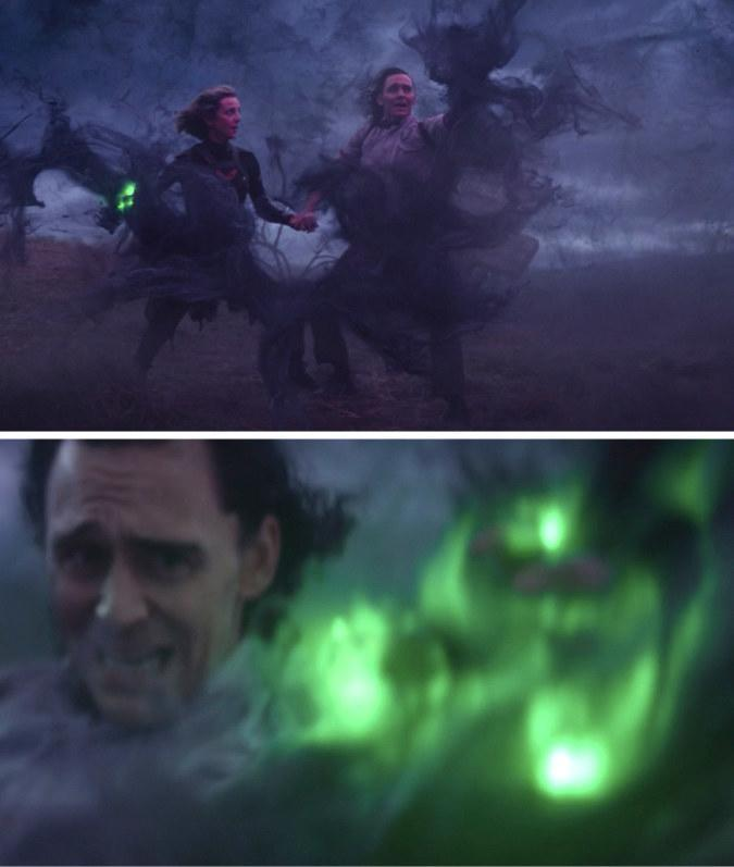 Sylvie enchanting, and then Loki finally being able to enchant, all while the two hold hands