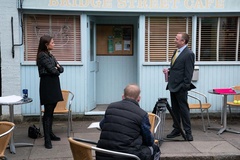 'EastEnders' returned to filming this week. (BBC/Jack Barnes)