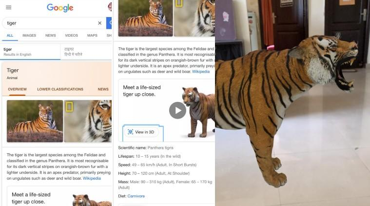 How to find 3D animals on Google