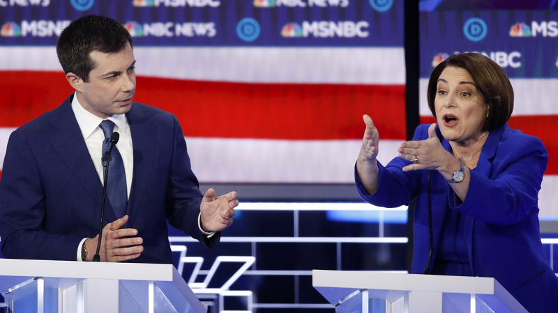 Amy Klobuchar and Pete Buttigieg