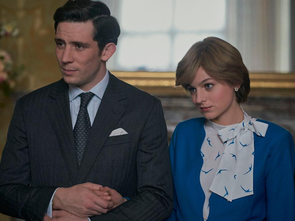 Josh O'Connor as Prince Charles with Emma Corrin as Princess Diana in The Crown (Photo: Netflix)