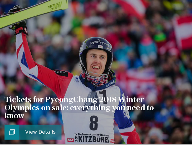 Tickets for PyeongChang 2018 Winter Olympics on sale: everything you need to know