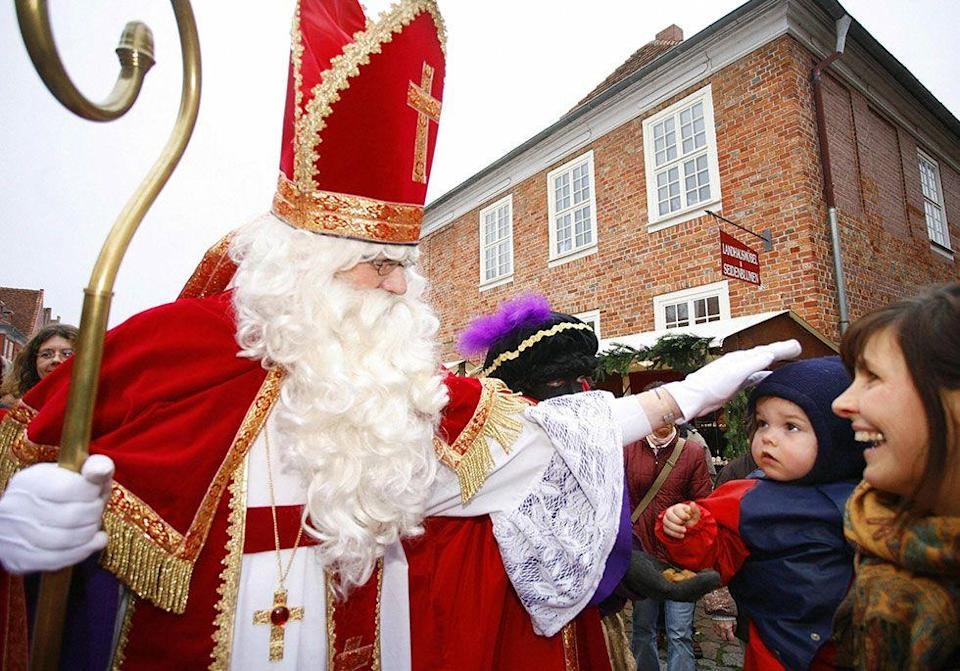"""<p>December 25 may be Christmas, but most of the holiday fun in Holland happens on <span class=""""redactor-unlink"""">Sinterklaas Avond (December 5,)</span> or St. Nicholas Eve. Sinterklaas <a href=""""https://www.housebeautiful.com/entertaining/holidays-celebrations/g13090381/amazon-holiday-gift-guide/"""" rel=""""nofollow noopener"""" target=""""_blank"""" data-ylk=""""slk:leaves presents"""" class=""""link rapid-noclick-resp"""">leaves presents</a> for all of the children that night.</p>"""