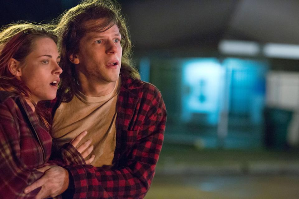 "<p><em>American Ultra</em> is an action-packed spy thriller disguised as a stoner comedy. That sounds like a format that shouldn't work, but it totally does thanks in large part to Kristen Stewart's underrated comedic timing. She stars alongside Jesse Eisenberg as a low-key couple whose sleepy lives are completely upended when the CIA comes calling. </p> <p><a href=""https://www.amazon.com/American-Ultra-Jesse-Eisenberg/dp/B01489KX1O"" rel=""nofollow noopener"" target=""_blank"" data-ylk=""slk:Available to stream on Amazon Prime"" class=""link rapid-noclick-resp""><em>Available to stream on Amazon Prime</em></a></p>"