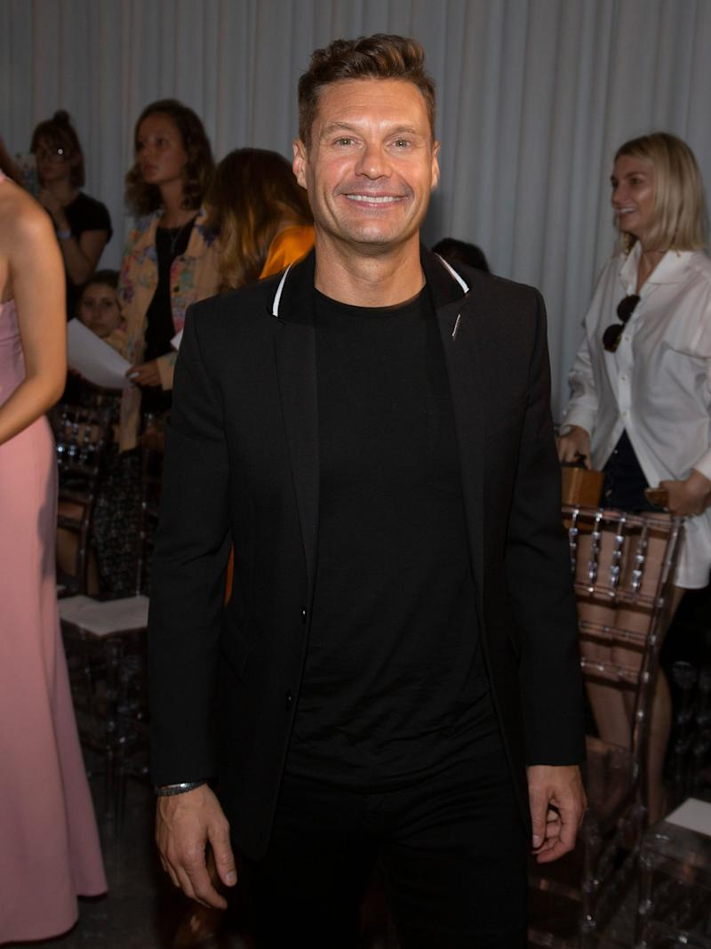 Ryan Seacrest during New York Fashion Week earlier this month.