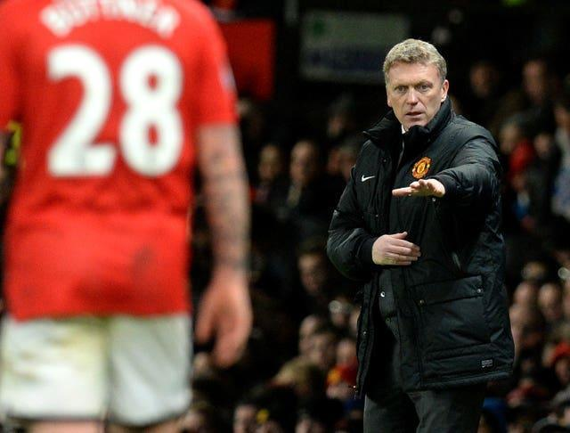 Former Manchester United manager David Moyes on the touchline at Old Trafford