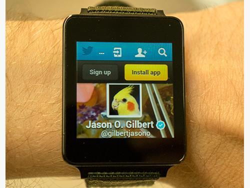 Twitter on an Android watch