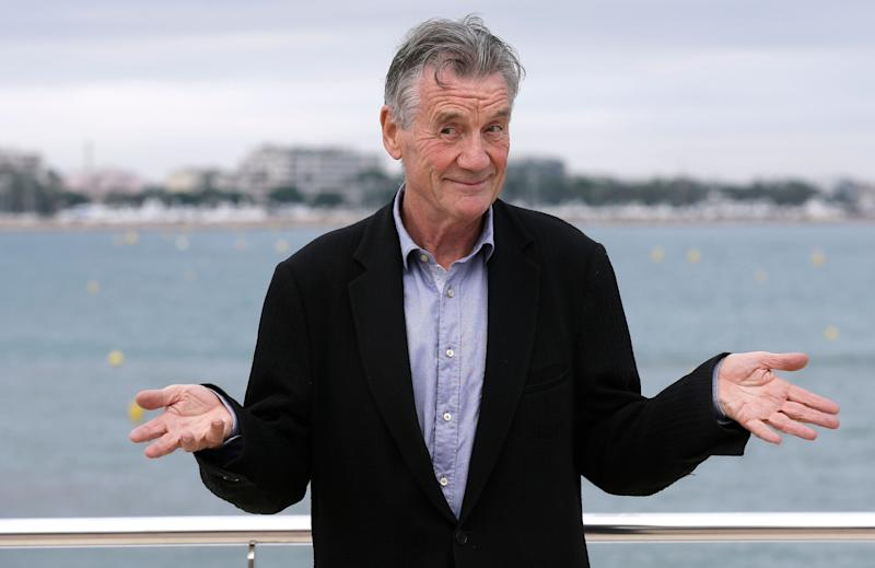 English comedian, actor, writer and television presenter Michael Palin poses during a photocall at the MIPCOM 2015 (International Film and Programme Market for Tv, Video,Cable and Satellite) in Cannes, southeastern France, Tuesday, Oct. 6, 2015. He presents the series 'Clangers'. (AP Photo/Lionel Cironneau )