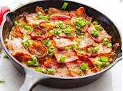 """<h2>33. Jalapeño Popper Chicken Casserole</h2> <p>Take your taste buds on a wild ride.</p> <p><a class=""""link rapid-noclick-resp"""" href=""""https://twosleevers.com/keto-baked-chicken-poppers/"""" rel=""""nofollow noopener"""" target=""""_blank"""" data-ylk=""""slk:Get the recipe"""">Get the recipe</a></p>"""