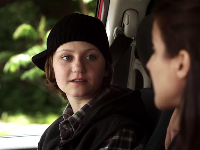 adam torres sitting in a car with his mother on degrassi season 10