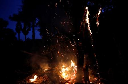 A tract of the Amazon jungle burns in Iranduba