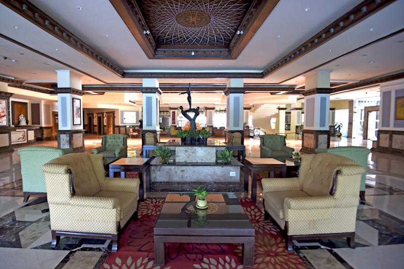 In this picture taken on June 19, 2020, a general view of an empty lobby is pictured at the Suryaa hotel in New Delhi. - Staff at the luxury Suryaa hotel used to welcome guests in bright saris. Now they must don medical suits and handle gurneys as New Delhi desperately prepares for a predicted surge in coronavirus cases in the coming weeks. (Photo by Money SHARMA / AFP) / TO GO WITH 'India-health-virus-hotels', SCENE by ABHAYA SRIVASTAVA (Photo by MONEY SHARMA/AFP via Getty Images)