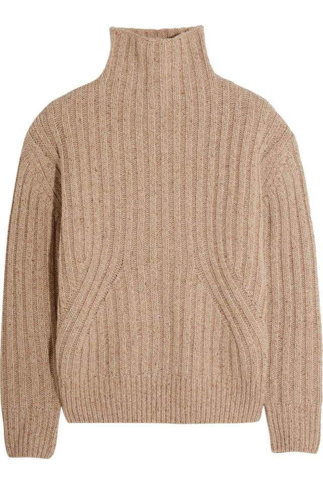 "<p>Totême Verbier Turtleneck Sweater, <span>$</span><span>270; <a rel=""nofollow"" href=""https://www.net-a-porter.com/us/en/product/756662/toteme/verbier-ribbed-wool-blend-turtleneck-sweater"">net-a-porter.com</a> <span></span></span></p>"