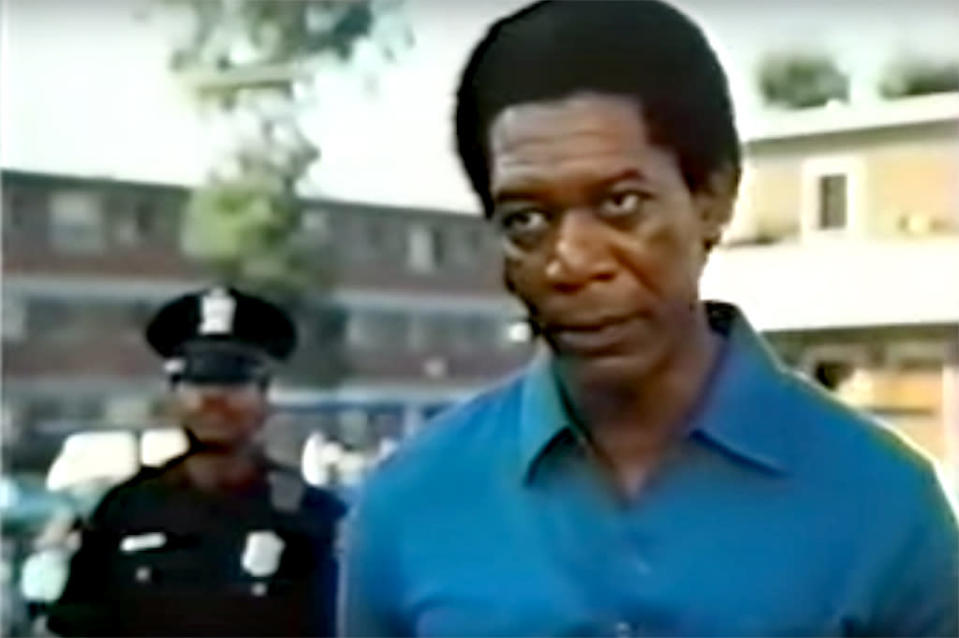 <p><b>Aired:</b> February 10, 1985 on CBS<br><b>Stars:</b> Morgan Freeman, James Earl Jones, Ruby Dee, Rip Torn, Jason Robards, Martin Sheen, CCH Pounder, Bill Paxton, and Kristoff St. John<br><br><b>Ripped from the headlines about:</b> A two-year period — 1979-1981 — in Atlanta, during which 28 African-American children and adults were murdered. Then 23-year-old local man Wayne Williams was charged with two of the adult murders, though his arrest sparked controversy, as some citizens felt Williams was being used as a scapegoat. Williams was convicted of the two adult murders and sentenced to life in prison, and Atlanta police ultimately announced he was responsible for 23 of the 29 killings. He continues to maintain his innocence, and has requested, and been denied, retrials on two occasions.<br><br><i>(Credit: CBS)</i> </p>