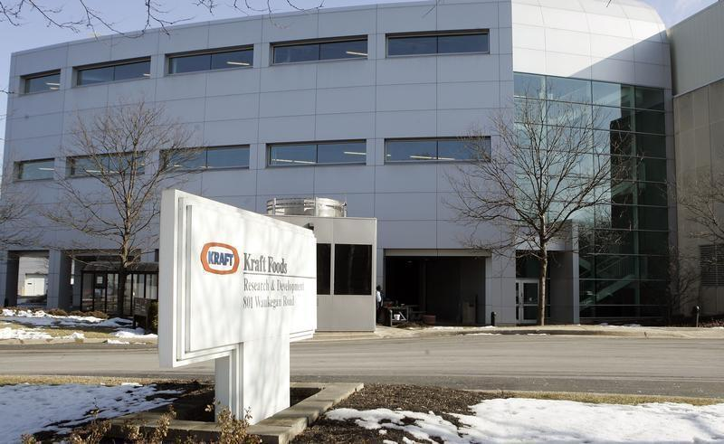 An exterior view shows the Kraft Research and Development facility in Morton Grove, Illinois