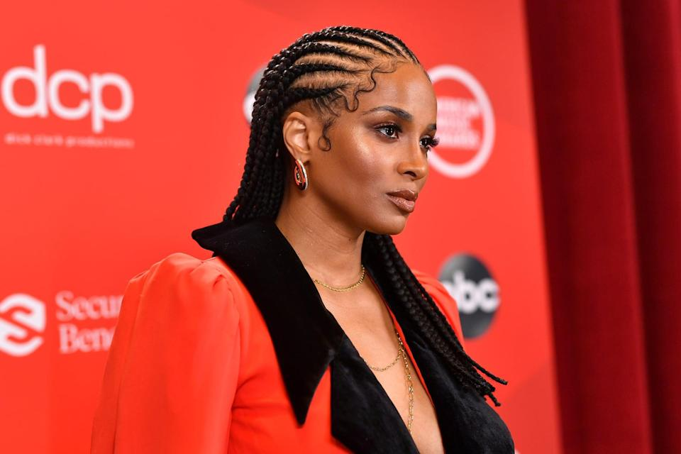 LOS ANGELES, CALIFORNIA - NOVEMBER 22: In this image released on November 22, Ciara attends the 2020 American Music Awards at Microsoft Theater on November 22, 2020 in Los Angeles, California. (Photo by Emma McIntyre /AMA2020/Getty Images for dcp)