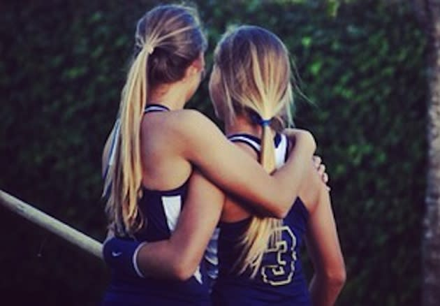The Gale sisters, identical twins, are the top two contenders for a pole vault state title — Instagram
