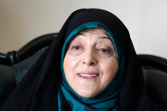 """Iranian vice president Massoumeh Ebtekar has said that Tehran """"cannot wait forever"""" for the confirmation of the 2015 nuclear accord (AFP Photo/ATTA KENARE)"""