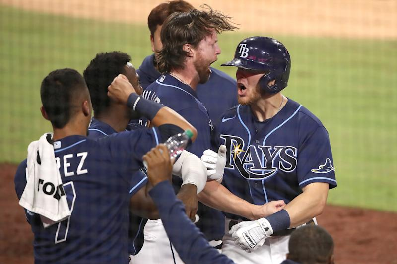 The Tampa Bay Rays beat the New York Yankees to advance to the ALCS. Up next, a matchup with the Houston Astros. (Photo by Sean M. Haffey/Getty Images)