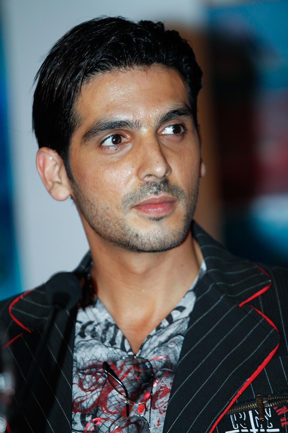 Indian actor Zayed Khan attends the press conference of bollywood movie