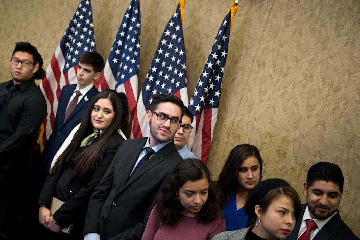 Democrats invited a group of so-called Dreamers to attend President Donald Trump's State of the Union address last week (AFP Photo/Brendan Smialowski)