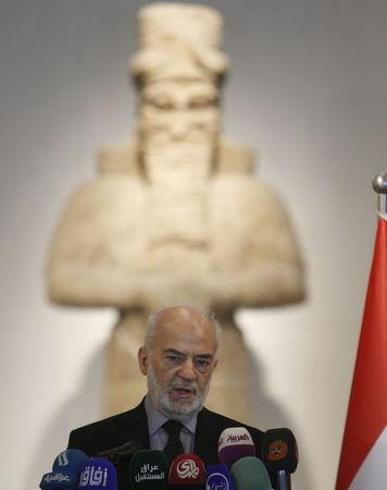 Iraqi Foreign Minister Ibrahim al-Jaafari speaks during a news conference at the National Museum of Iraq in Baghdad, Iraq July 8, 2015. REUTERS/Khalid al-Mousily