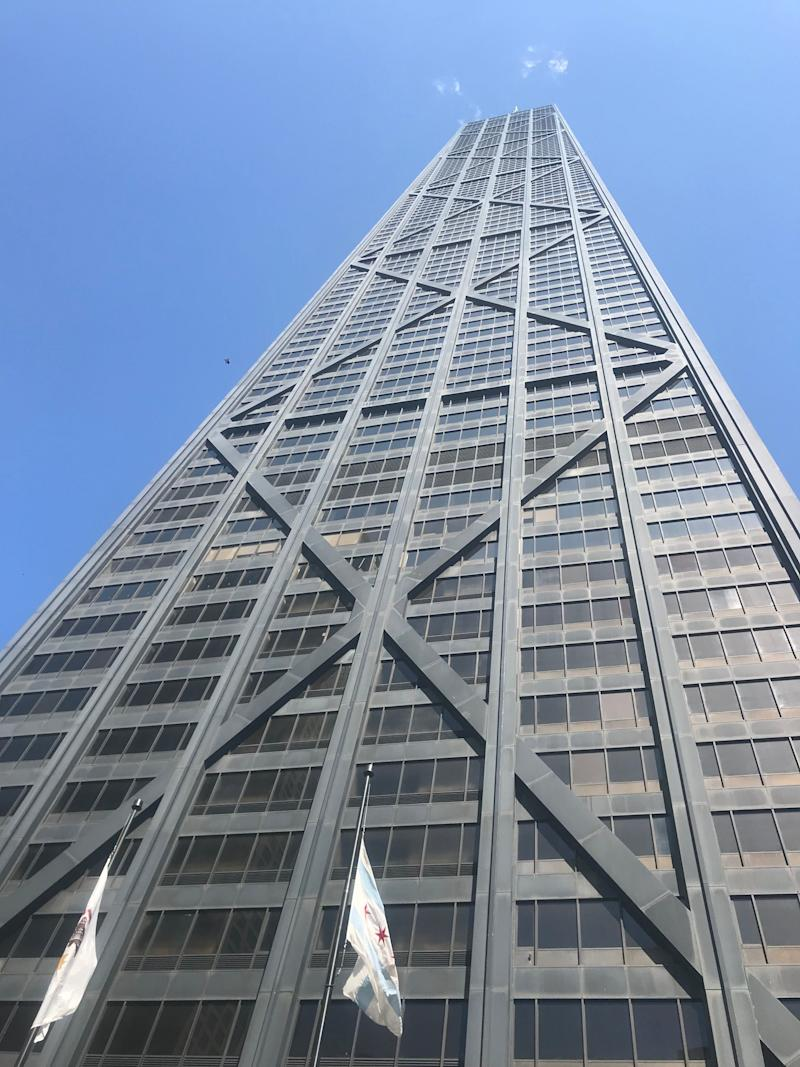 360 Chicago, an observatory, is on the 94th floor of the iconic John Hancock Building in Chicago.