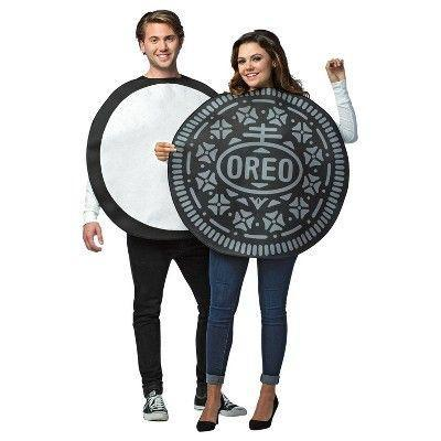 """<p><strong>Rasta Imposta</strong></p><p>target.com</p><p><strong>$41.49</strong></p><p><a href=""""https://www.target.com/p/adult-oreo-cookie-couples-halloween-costume/-/A-52656353"""" rel=""""nofollow noopener"""" target=""""_blank"""" data-ylk=""""slk:Shop Now"""" class=""""link rapid-noclick-resp"""">Shop Now</a></p><p>If you and your S.O. are everyone's favorite couple, it only makes sense that you dress up as everyone's favorite cookie.</p>"""