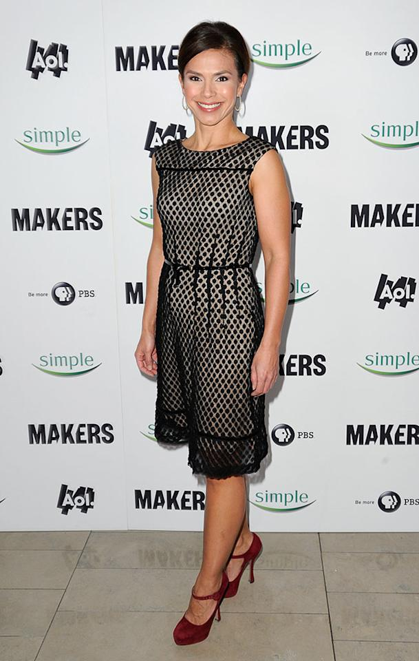 "Christine Johnson arrives at ""MAKERS: Women Who Make America"" New York Premiere at Alice Tully Hall on February 6, 2013 in New York City."