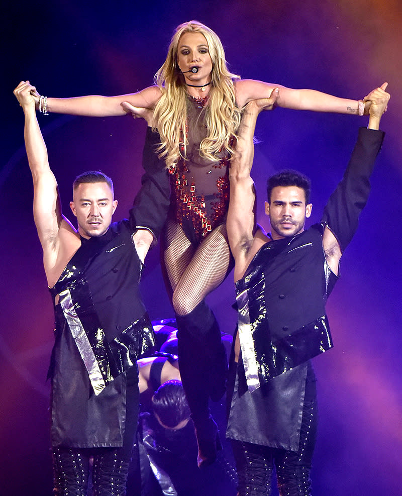 <p>Spears, 35, is one of two artists on this list who was born in Mississippi. (Can you guess who the other one is?) Spears's top sellers are her first two albums: 1999's …Baby One More Time (14 million) and 2000's Oops!…I Did It Again (10 million). (Photo: Rob GrabowskiInvision/AP) </p>