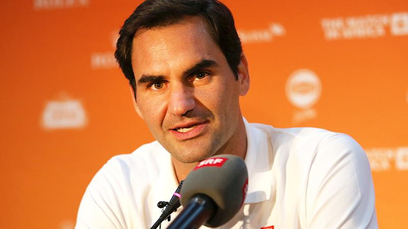 Roger Federer, pictured here speaking to media in Cape Town.