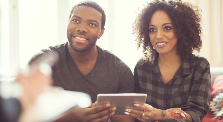 Young couple gets holistic financial advice