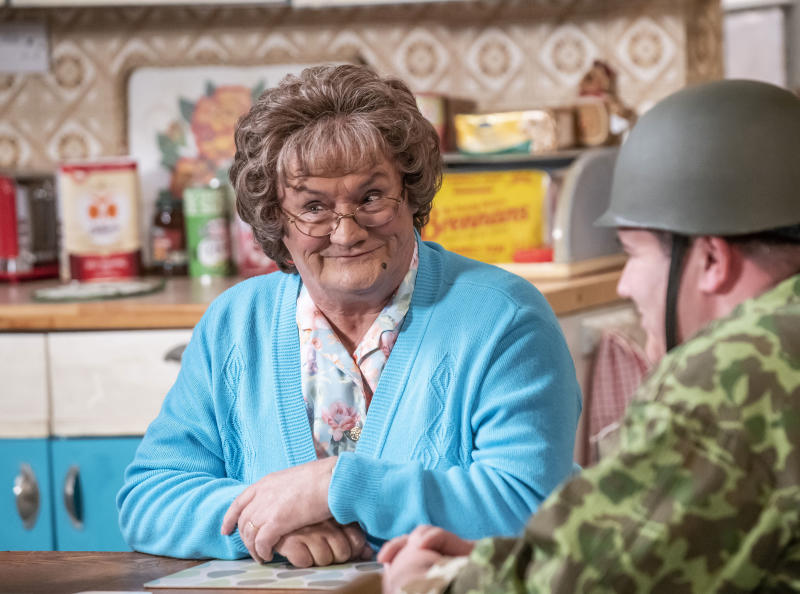 Brendan O'Carroll didn't want to address environmental worries in Mrs Brown's Boys. (BBC Studios/Alan Peebles)